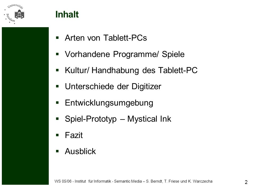 WS 05/06 - Institut für Informatik - Semantic Media – S.