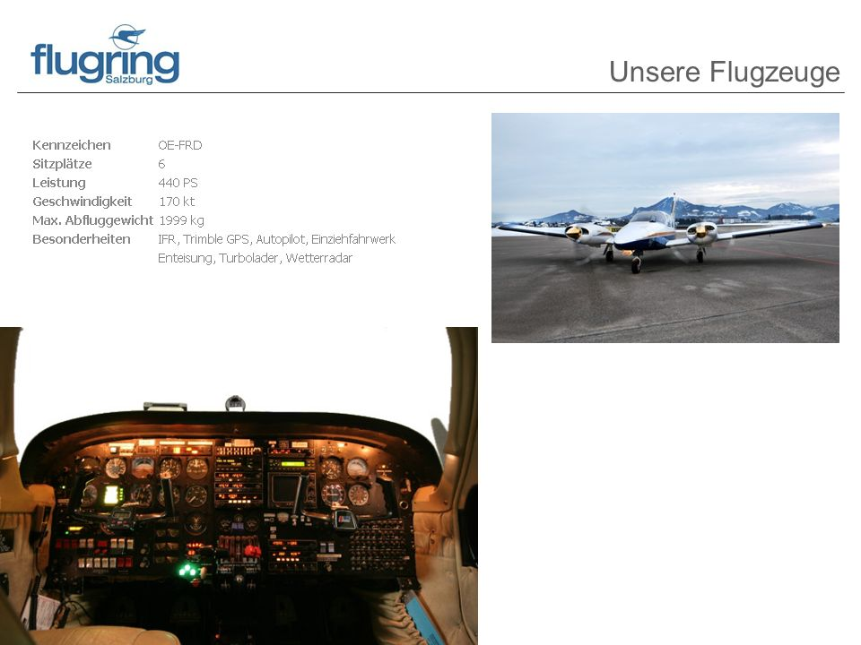 Unsere Flugzeuge