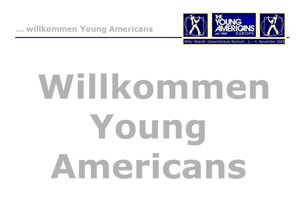 Willkommen Young Americans... willkommen Young Americans