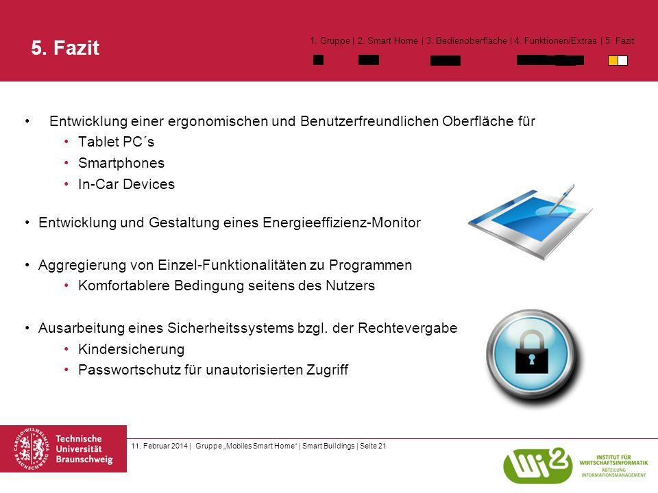 11. Februar 2014 | Gruppe Mobiles Smart Home | Smart Buildings | Seite