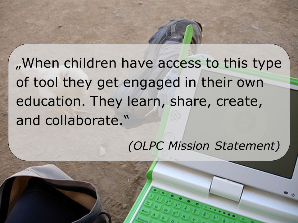When children have access to this type of tool they get engaged in their own education.