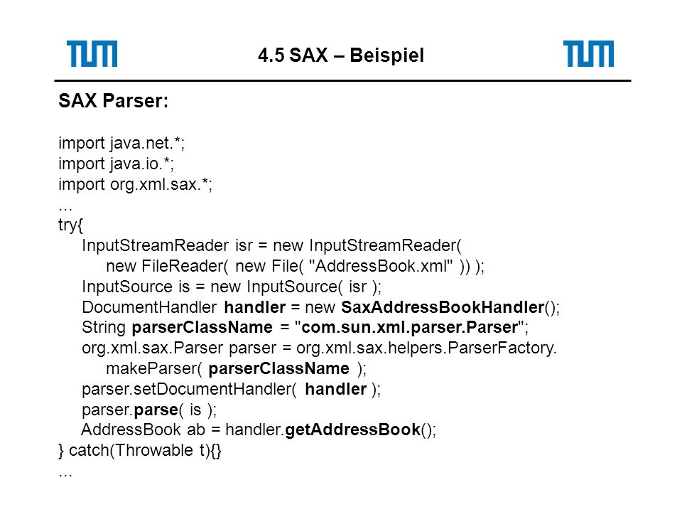 SAX Parser: import java.net.*; import java.io.*; import org.xml.sax.*;...