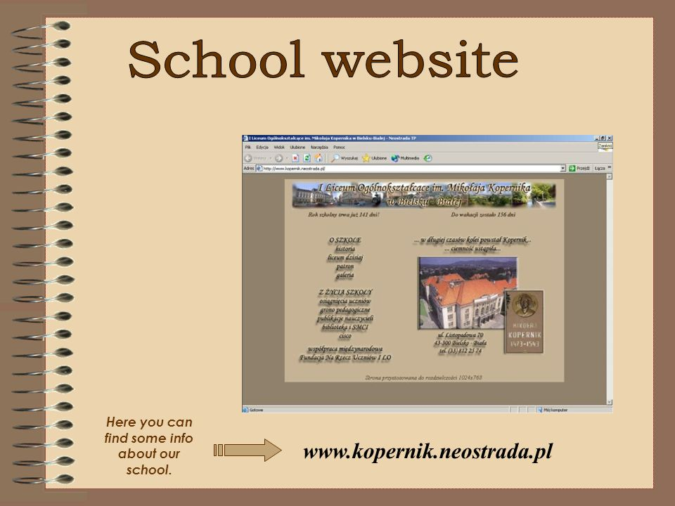 Here you can find some info about our school.