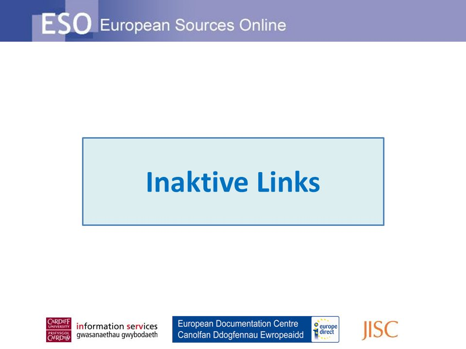 Inaktive Links