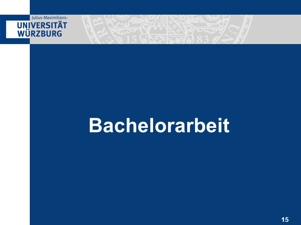 15 Bachelorarbeit
