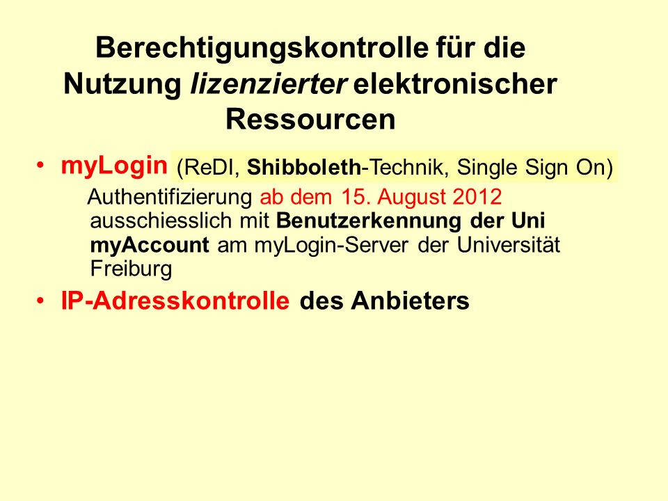 myLogin Authentifizierung ab dem 15.