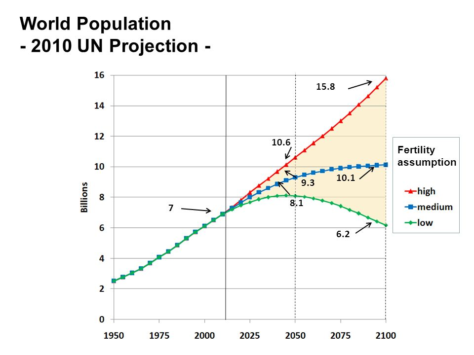 World Population UN Projection - Fertility assumption