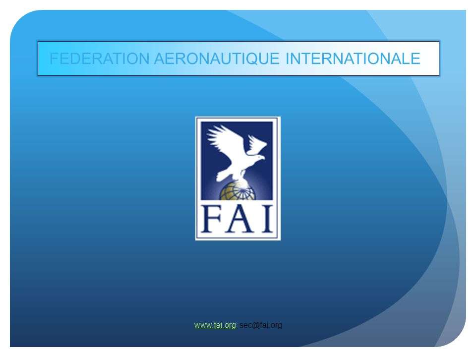 FEDERATION AERONAUTIQUE INTERNATIONALE