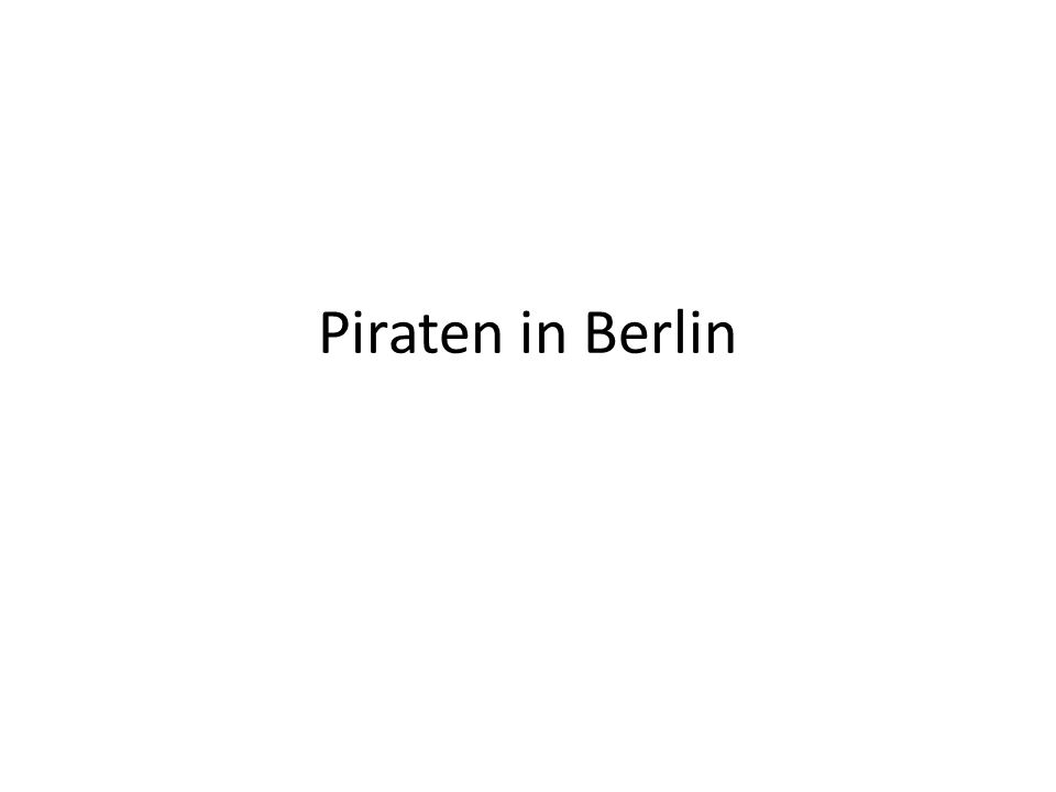 Piraten in Berlin