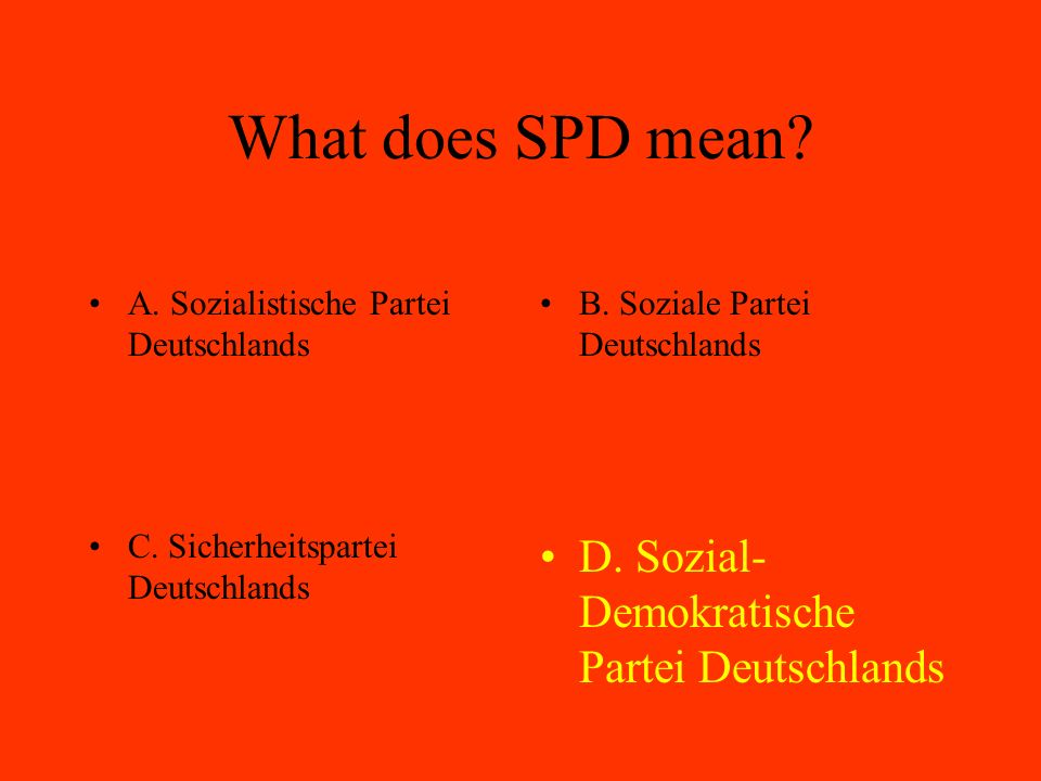What does SPD mean.