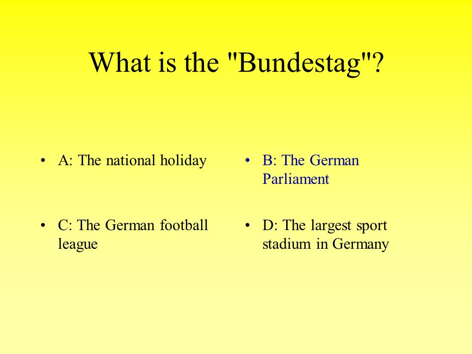 What is the Bundestag .