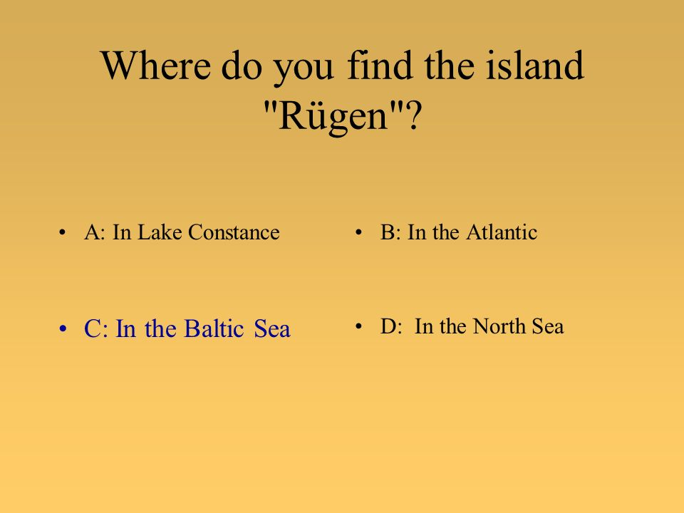 Where do you find the island Rügen .