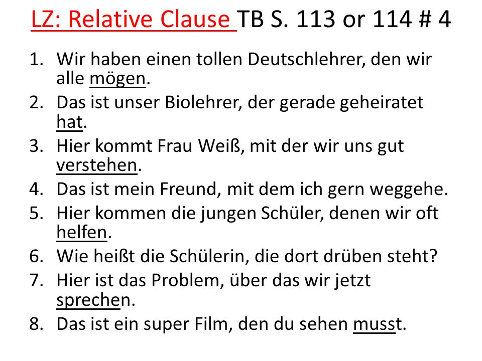 LZ: Relative Clause TB S.