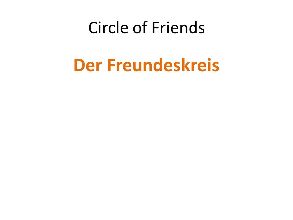 Circle of Friends Der Freundeskreis
