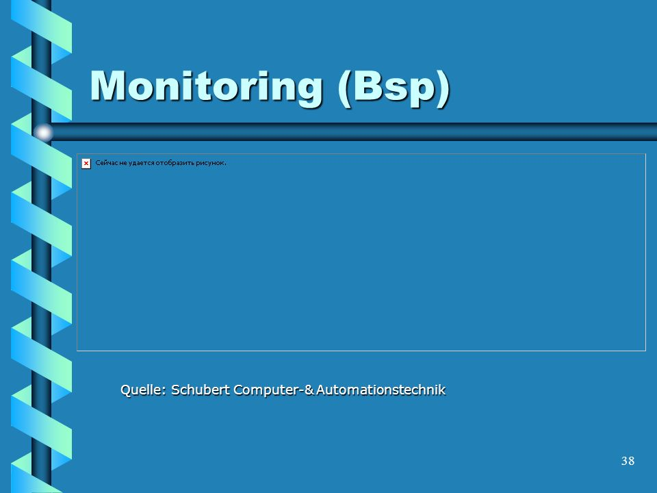 38 Monitoring (Bsp) Quelle: Schubert Computer-& Automationstechnik