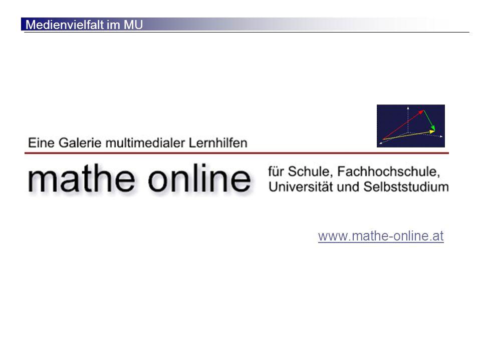 Eine Kooperation von ACDCA, GeoGebra und mathe online Franz Embacher ...
