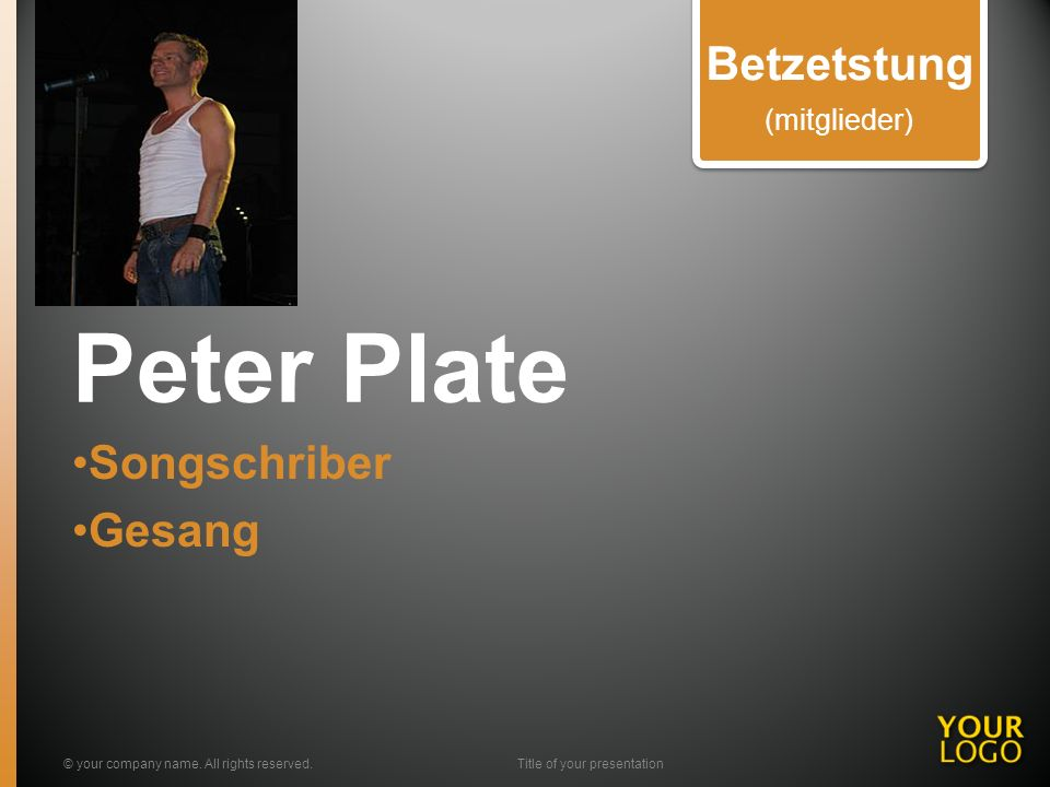 Peter Plate Songschriber Gesang © your company name.