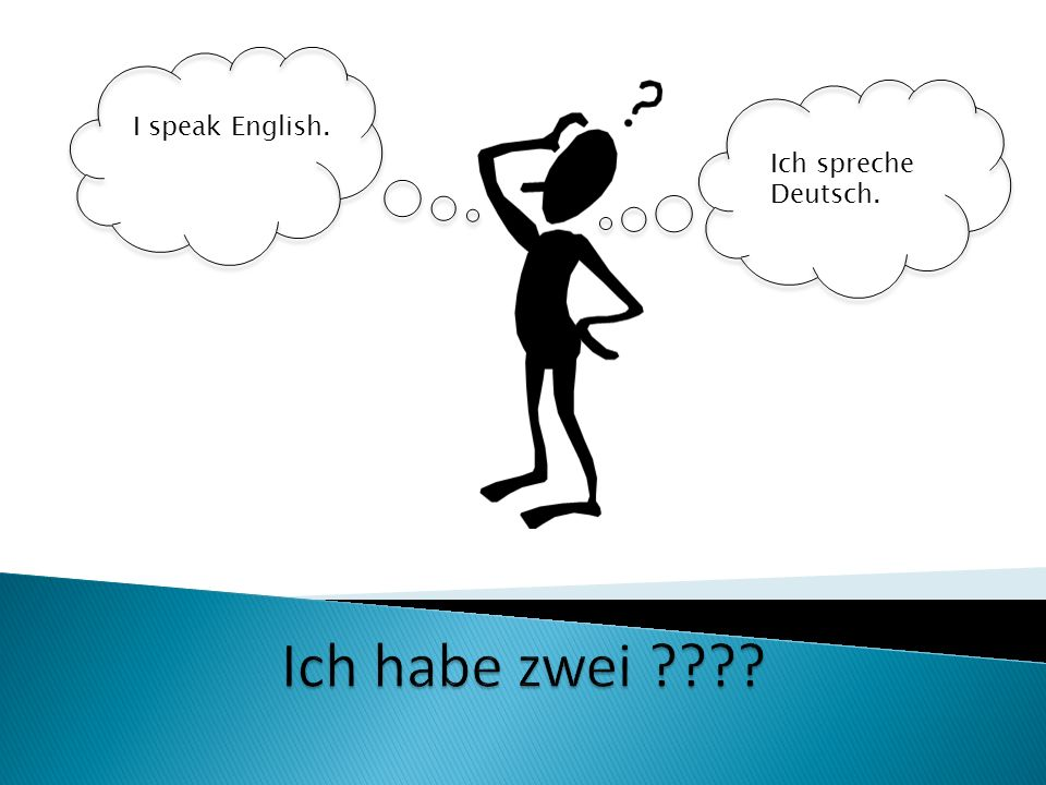 Ich spreche Deutsch. I speak English.