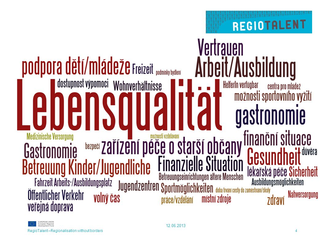 Lebenswerte Region RegioTalent –Regionalisation without borders4 12.06.2013