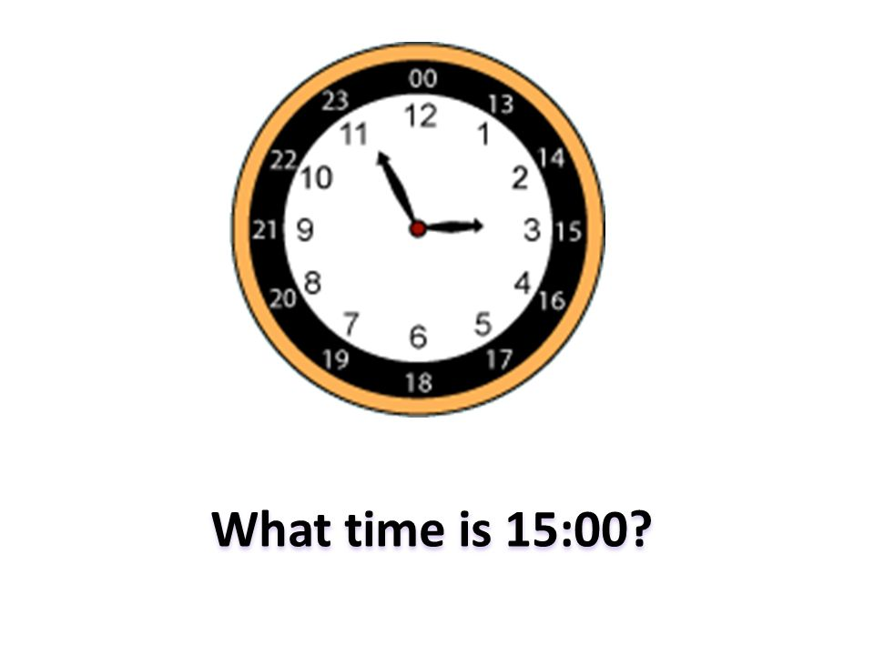 What time is 15:00