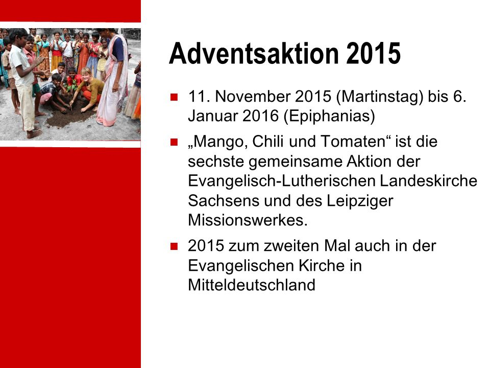 Adventsaktion 2015 11. November 2015 (Martinstag) bis 6.