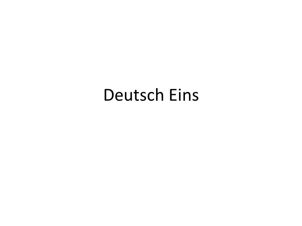Deutsch Eins