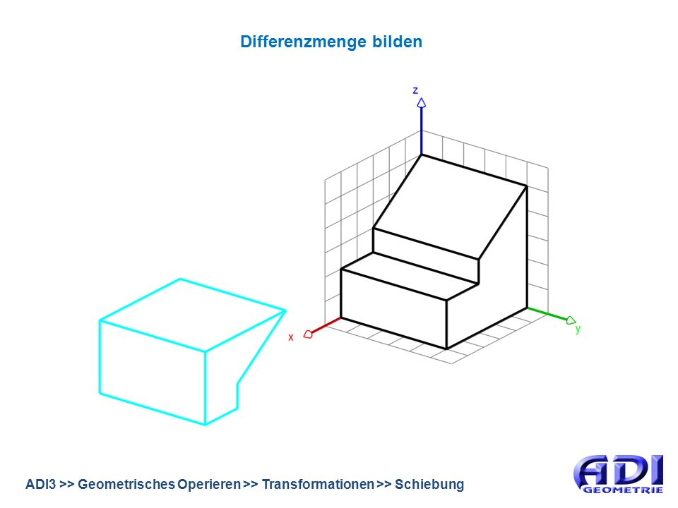 ADI3 >> Geometrisches Operieren >> Transformationen >> Schiebung Differenzmenge bilden