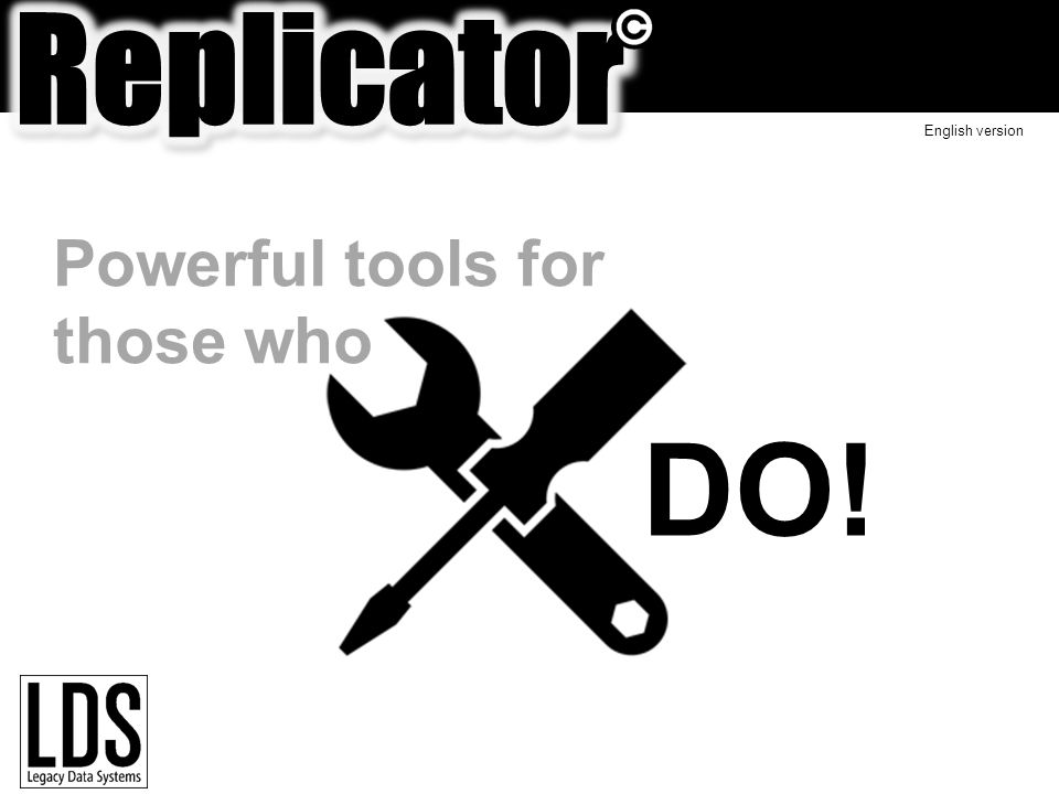 Powerful tools for those who DO! English version