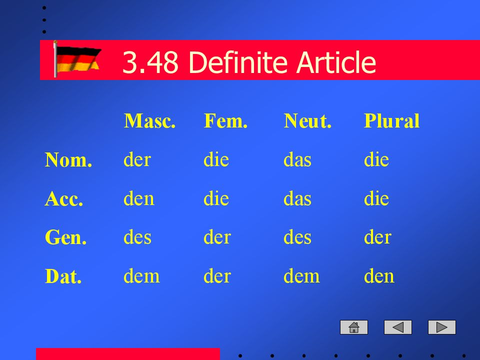 3.48 Definite Article