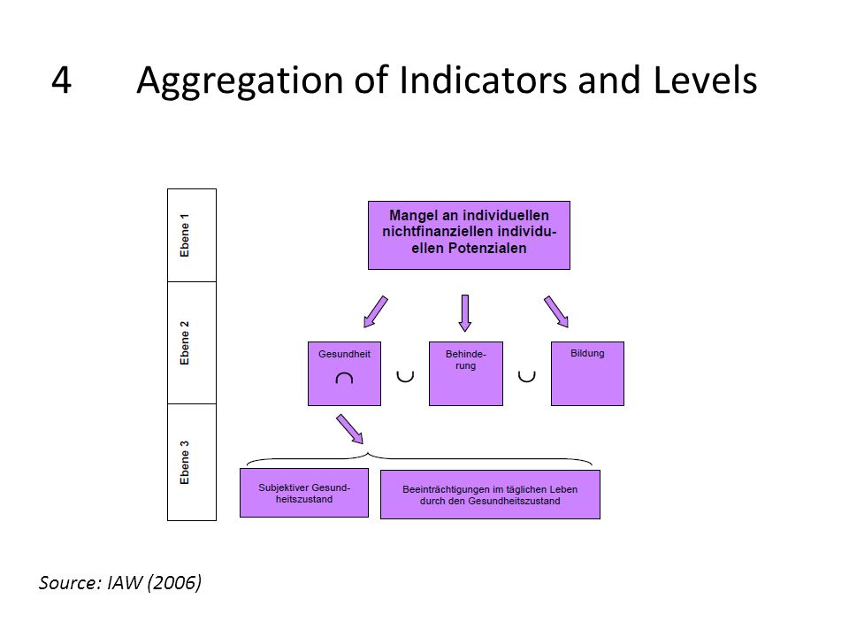 4Aggregation of Indicators and Levels Source: IAW (2006)