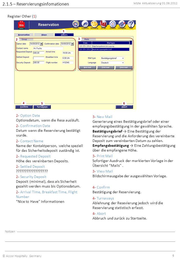 Kapitel - Thema letzte Aktualisierung © Accor Hospitaliy Germany ...