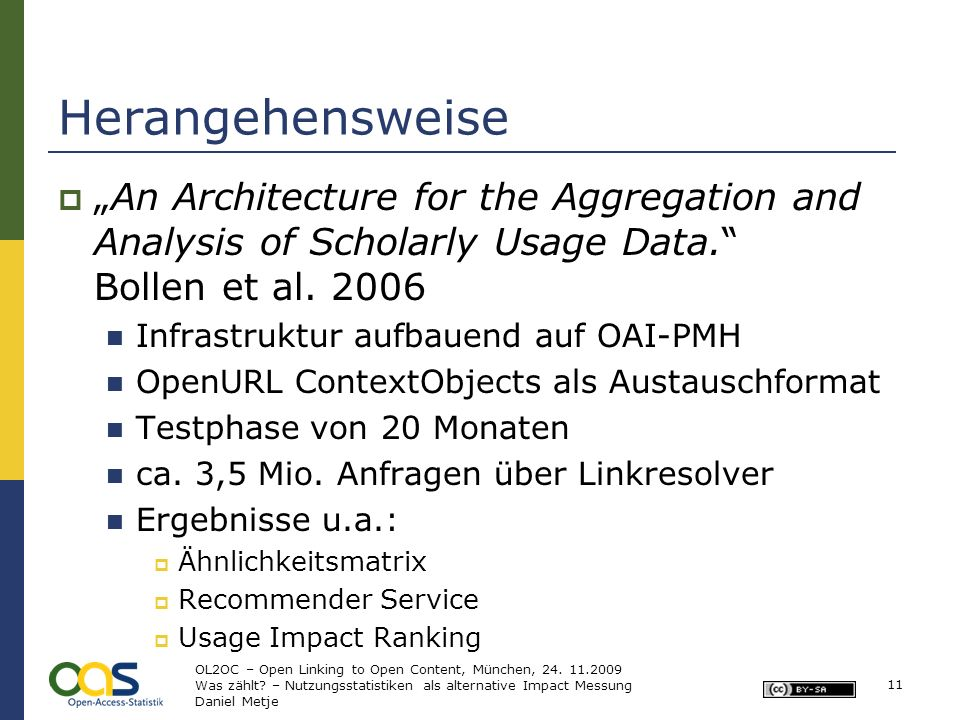 Herangehensweise An Architecture for the Aggregation and Analysis of Scholarly Usage Data.