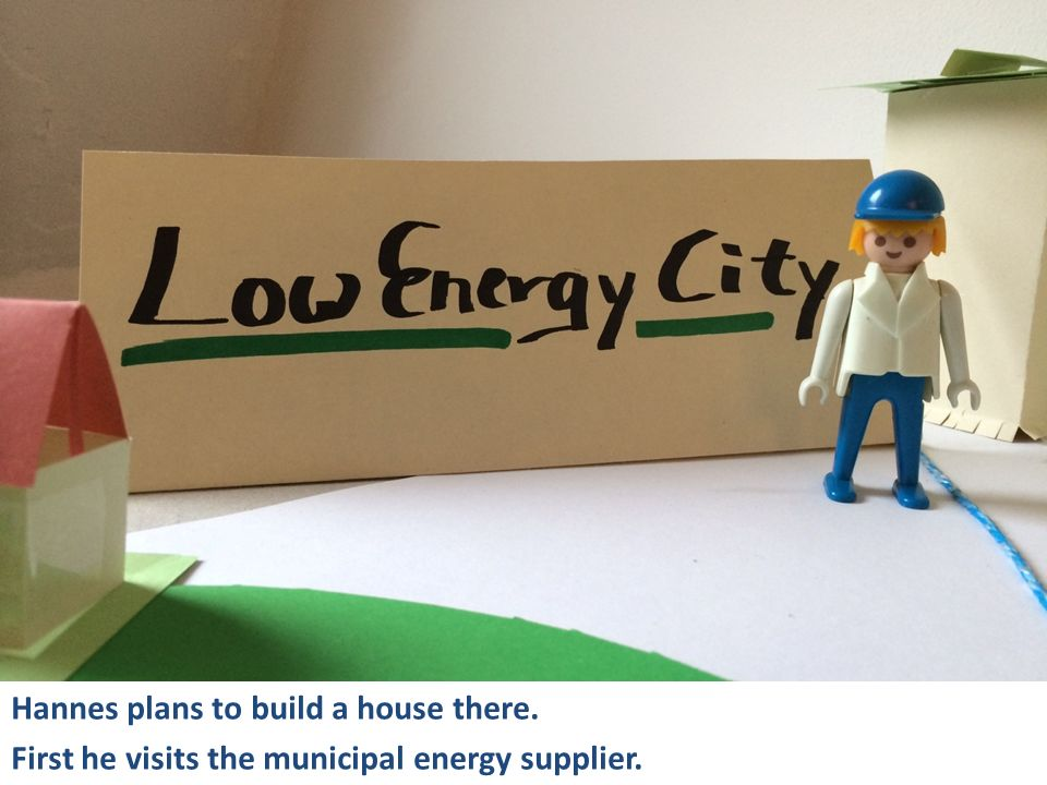 Hannes plans to build a house there. First he visits the municipal energy supplier.