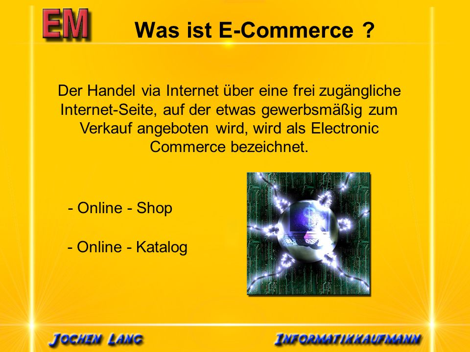 Was ist E-Commerce .