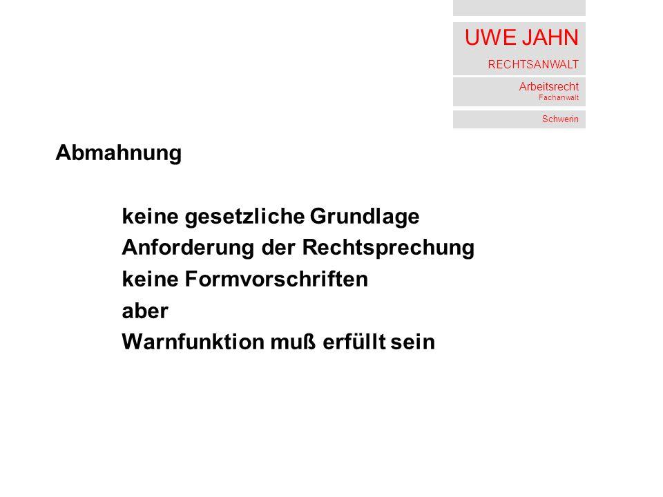 Uwe Jahn Rechtsanwalt Arbeitsrecht Fachanwalt Schwerin