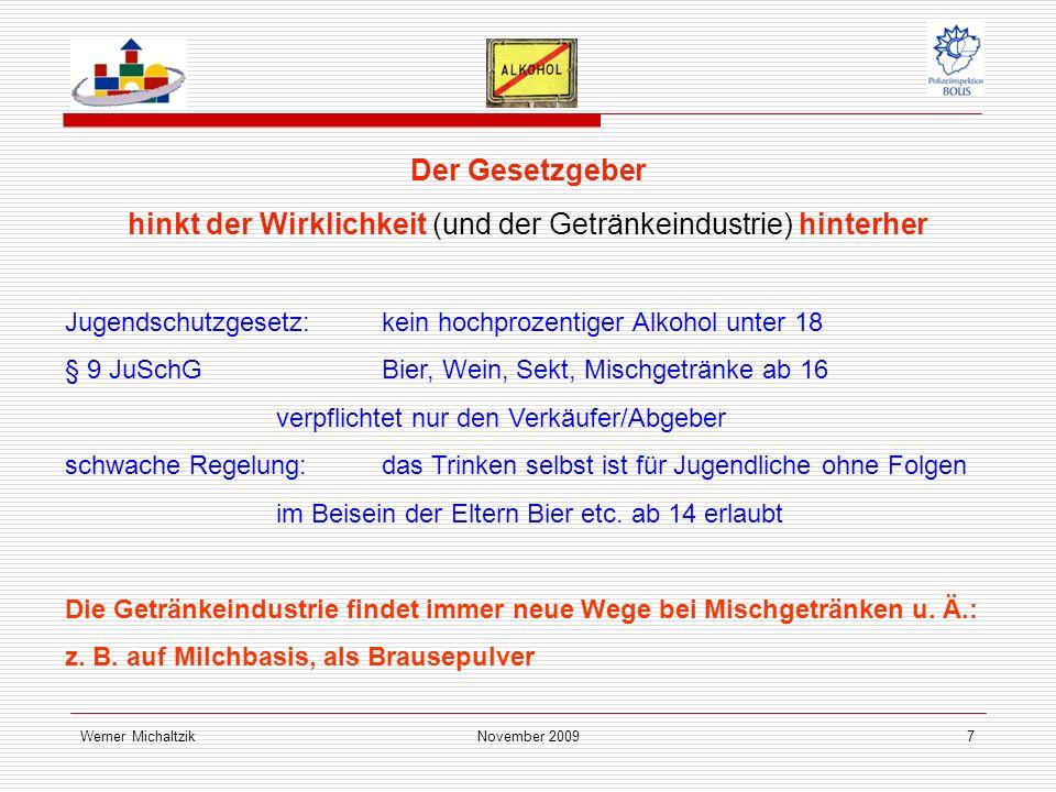 Werner MichaltzikNovember Das wöchentliche Komasaufen und die Folgen ...