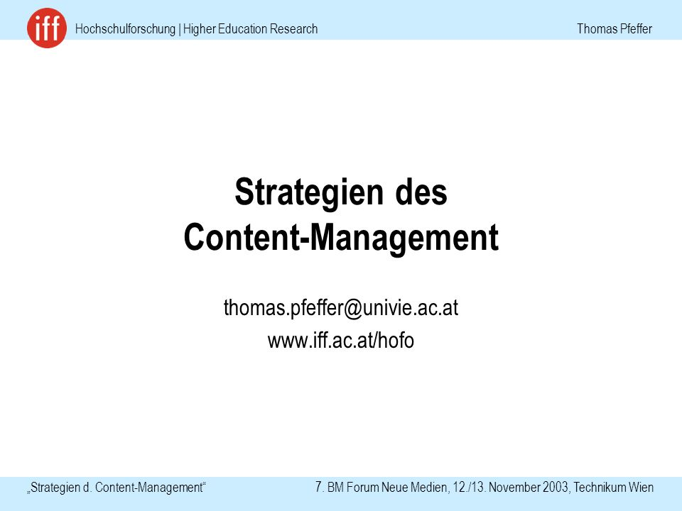 Hochschulforschung | Higher Education Research Thomas Pfeffer Strategien d.