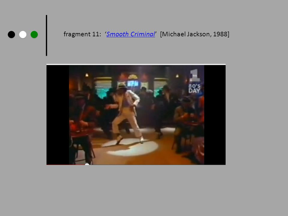 fragment 11: Smooth Criminal [Michael Jackson, 1988]Smooth Criminal