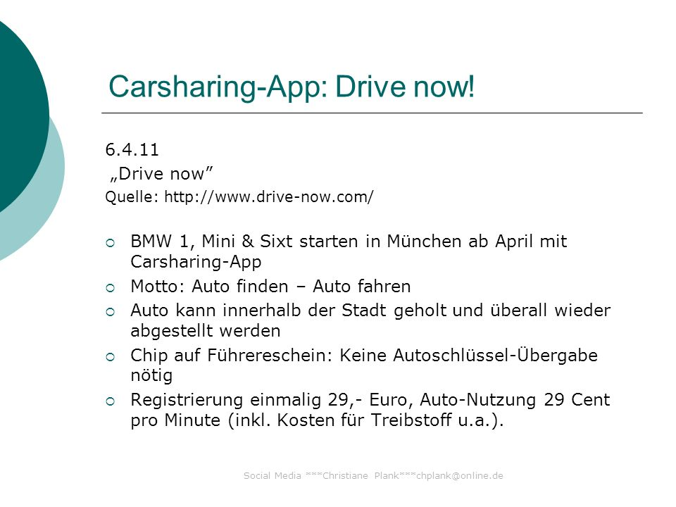 Carsharing-App: Drive now.