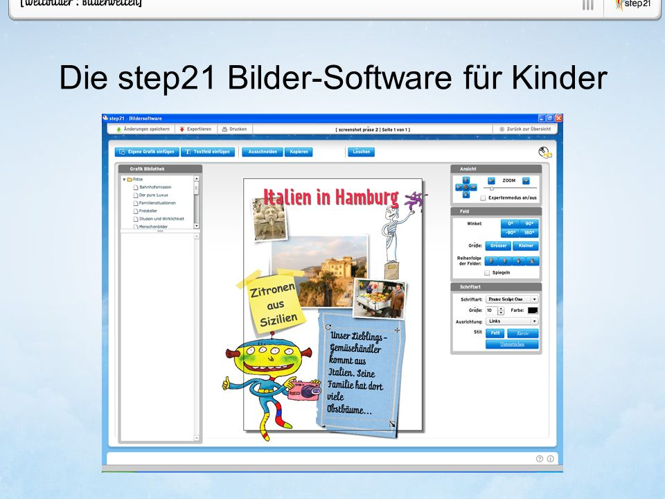 Die step21 Bilder-Software für Kinder