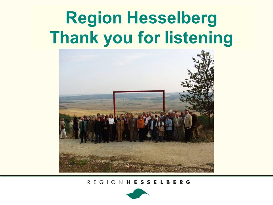 Region Hesselberg Thank you for listening