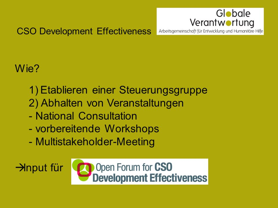 CSO Development Effectiveness Wie.