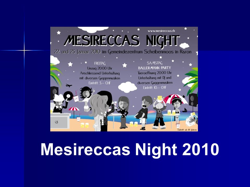 Mesireccas Night 2010