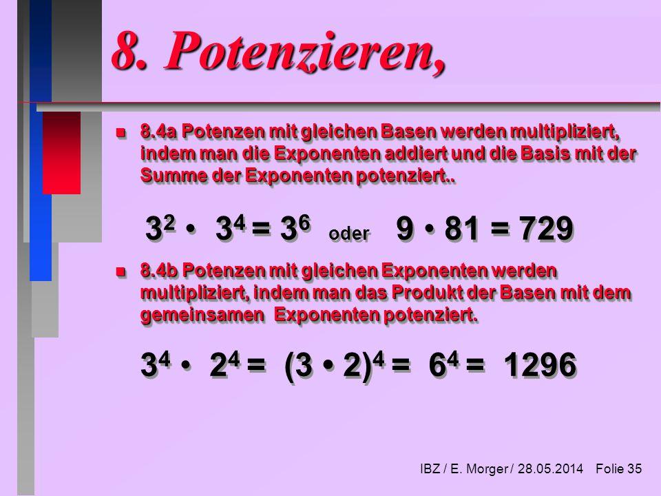 IBZ / E. Morger / Folie 1 Lektion 1 AdministrationVorschau 1. Zahlen ...