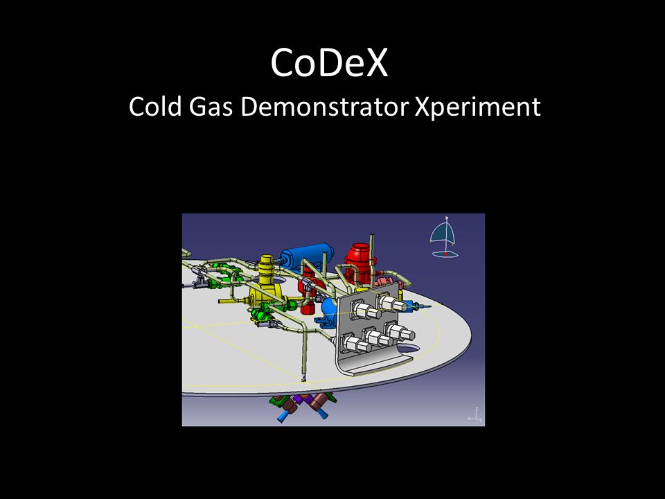 CoDeX Cold Gas Demonstrator Xperiment