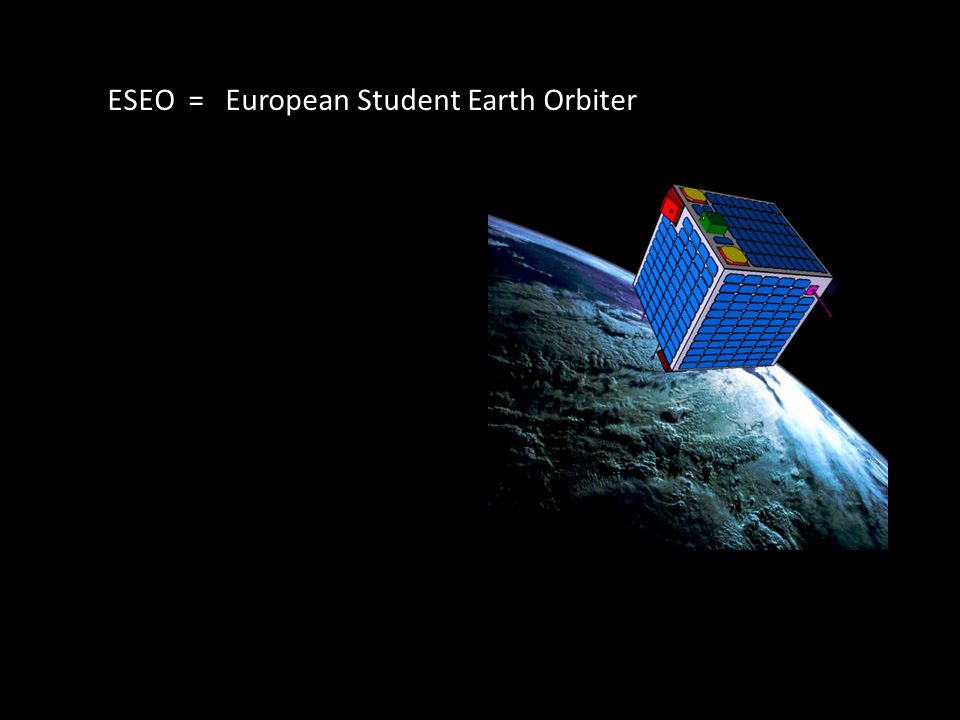 ESEO = European Student Earth Orbiter