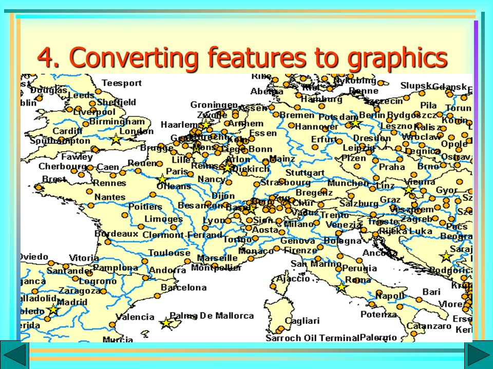 Graphics Annotations Labels Features 4. Converting features to graphics