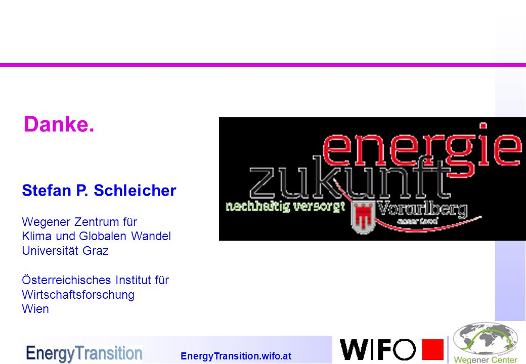 EnergyTransition.wifo.at Danke. Stefan P.