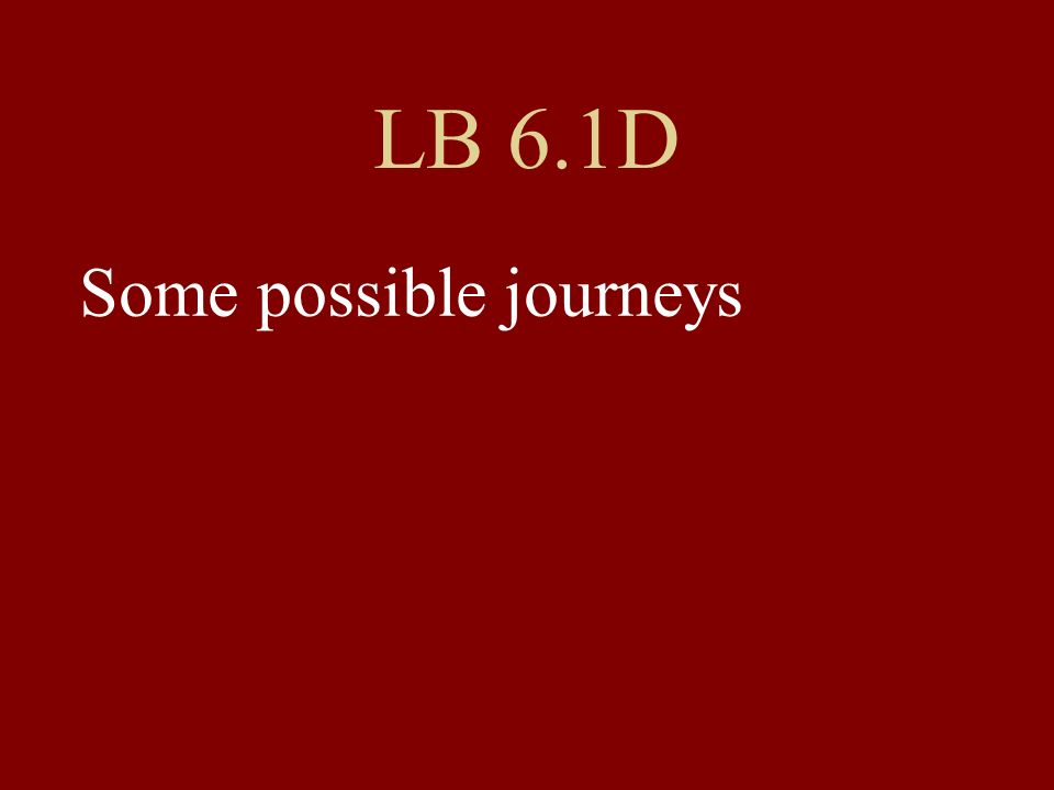 LB 6.1D Some possible journeys