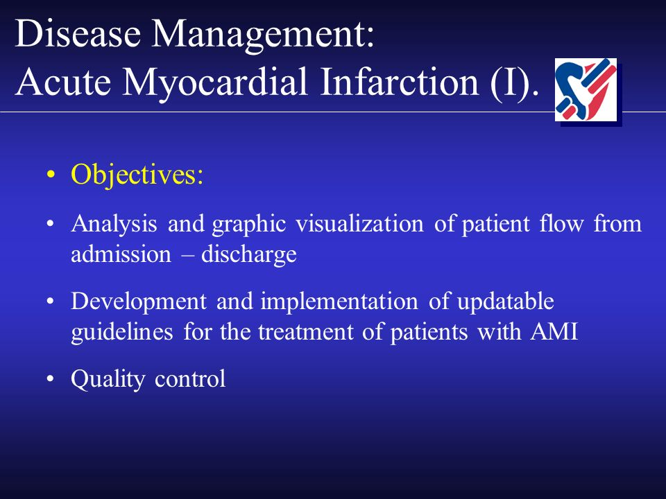 Disease Management: Acute Myocardial Infarction (I).